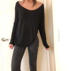 Black long sleeve Brandy Melville shirt
